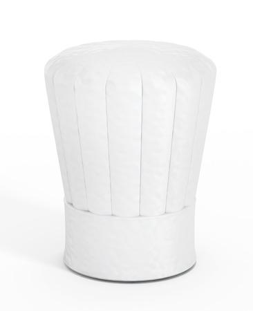Sombrero de chef aisladas sobre fondo blanco. Foto de archivo