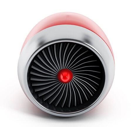 jet engine: Jet engine isolated on white background.