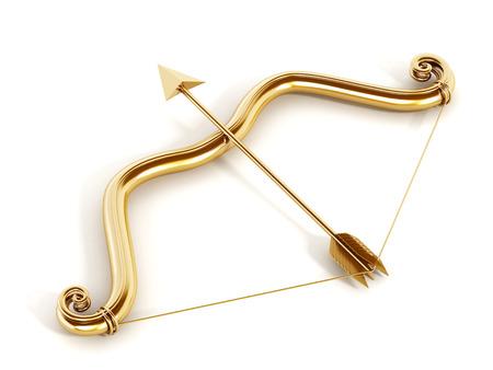 bow arrow: Arco de Cupido, aislado, concepto del amor.