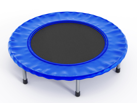 Trampoline isolated on white background. Stock Photo