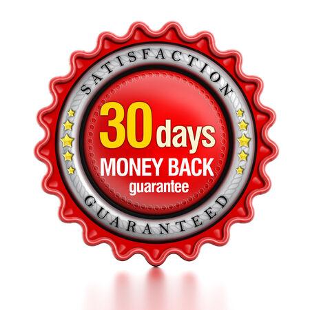 30 Tage Geld zurück gurantee Standard-Bild - 35191964