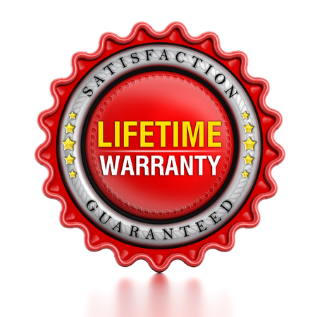 lifetime: Lifetime warranty stamp isolated on white background.