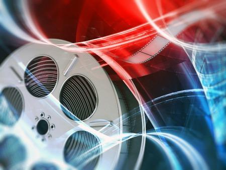 Film reel background Stock Photo