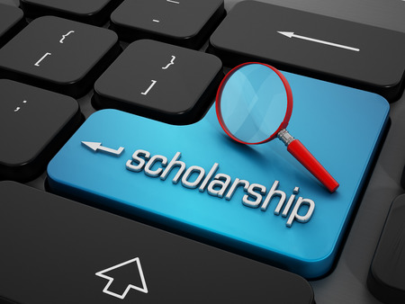 scholarship: Online scholarship Stock Photo