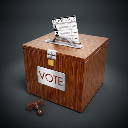 secrecy of voting: Ballot box