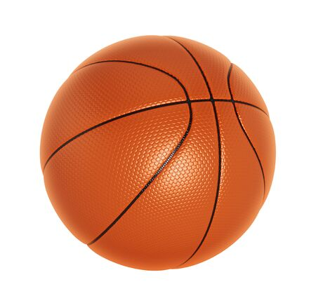 sport object: Basketball isolated on white background. Stock Photo