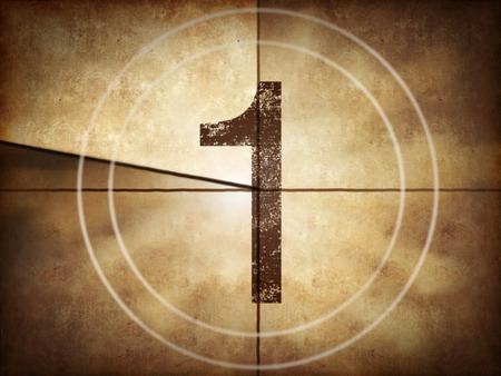 Films: Old movie countdown number 1 Stock Photo