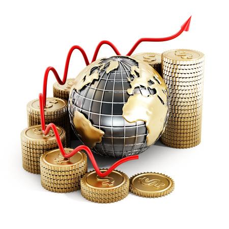 finance background: Global finance Stock Photo
