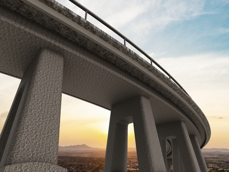 bridging: Freeway span view from low angle Stock Photo