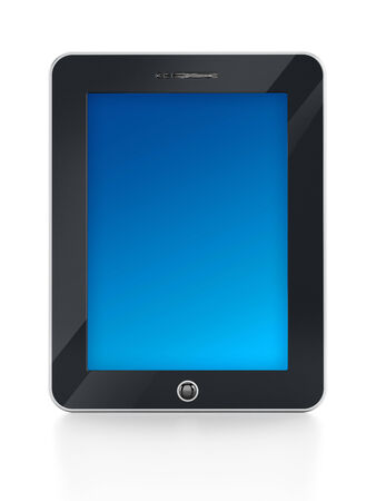 palmtop: Digital tablet PC isolated on white background