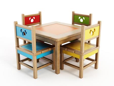 jardin de infantes: Las tablas de los ni�os y Sillas