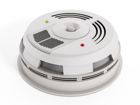 humo: Detector de humo aislado sobre fondo blanco. Dise�o gen�rico.