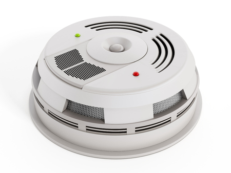 Smoke Detector isolated on white background. Generic design. Stock Photo - 36233446