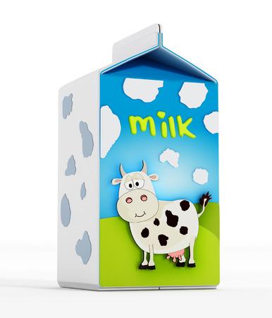 Milk bottle Stockfoto
