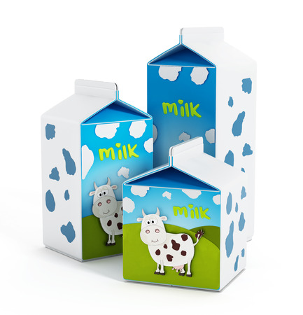 carton de leche: Botellas de leche Foto de archivo