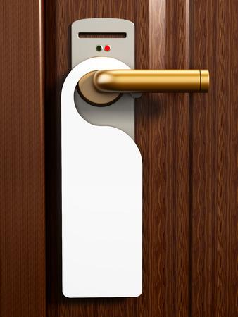 handle: No molestar cartel en la puerta de la habitaci�n del hotel