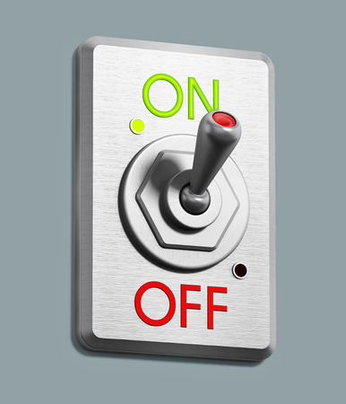 On off switch pointing on