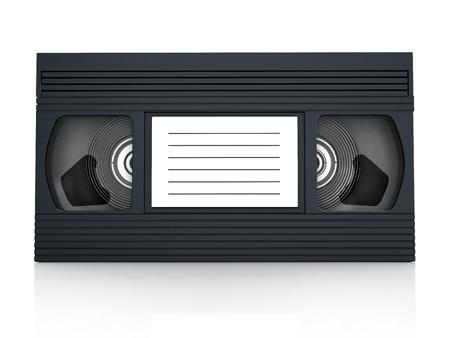 vhs videotape: VHS videotape isolated on white background