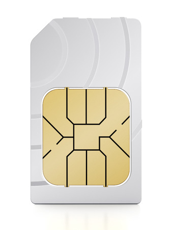 SIM card isolated on white background 版權商用圖片