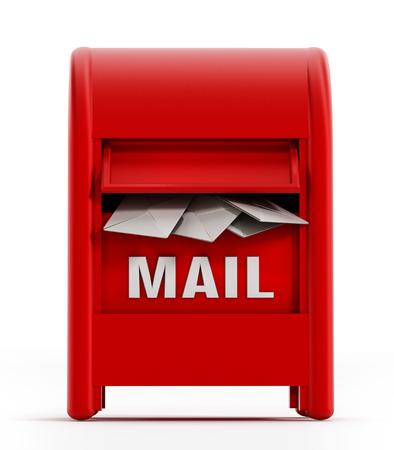 mailbox: Mailbox isolated on white background. Stock Photo