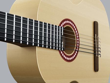 Accoustic guitar detail horizontal version
