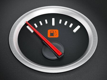 tanque de combustible: Indicador de combustible con luz de advertencia que indica el tanque de combustible vacío