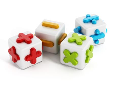 Les symboles mathématiques isolé sur fond blanc