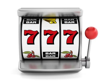 slot machine: Slot machine with three seven