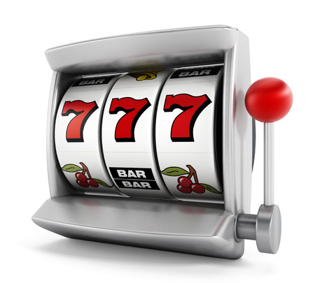 Slot machine with three seven