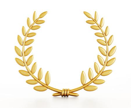 Gold laurels isolated on white background