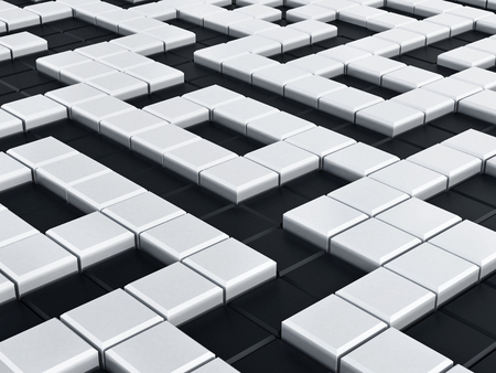 Black and white crossword puzzle background