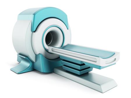 Obrazowanie metodą rezonansu magnetycznego MRI systemem odizolowane na białym tle.