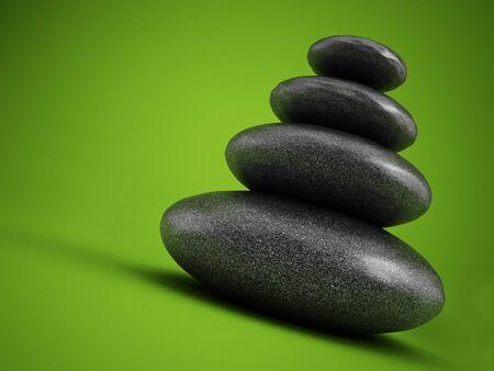 lastone: Balanced stones on green background