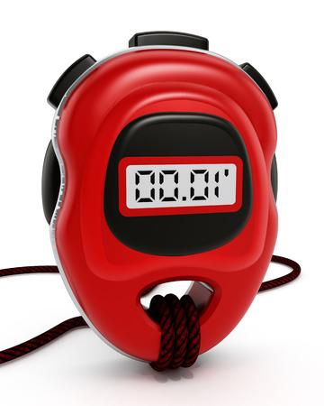 chronometer: Digital chronometer isolated on white background Stock Photo