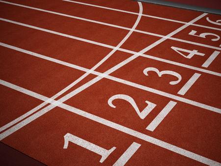 pista de atletismo: Ejecuci�n de los n�meros de partida pista mostrando