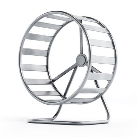 Hamster-Rad auf weißem Hintergrund Standard-Bild - 40179429