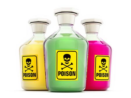 veneno frasco: Botella de veneno que contiene una sustancia verde