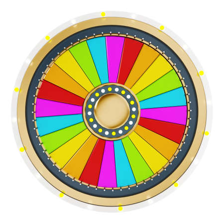 game of chance: Prize wheel with empty slices on white background