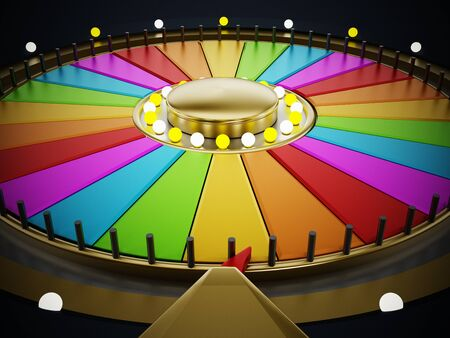 game wheel: Prize wheel with empty slices on white background