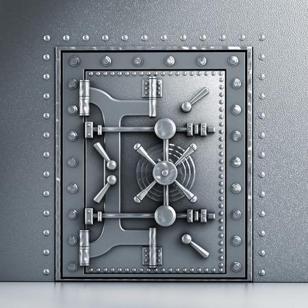 金属製の頑丈なアーチ型ドア