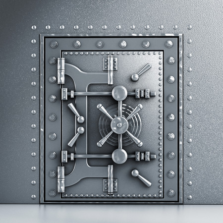 Metal robusta puerta abovedada