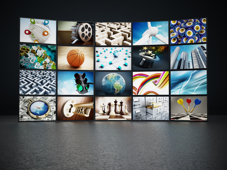 Video wall containing images from my portfolio.