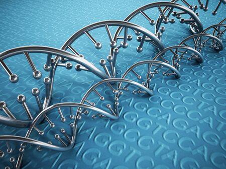 echnology: DNA strands background with blue color tones.
