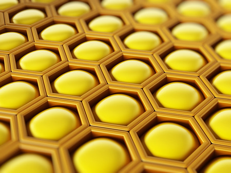 honey comb: Yellow honey comb texture background Stock Photo