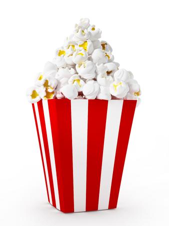 movie popcorn: Popcorn isolated on white background.