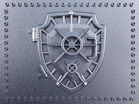 vaulted: Metal vaulted door with shield shape