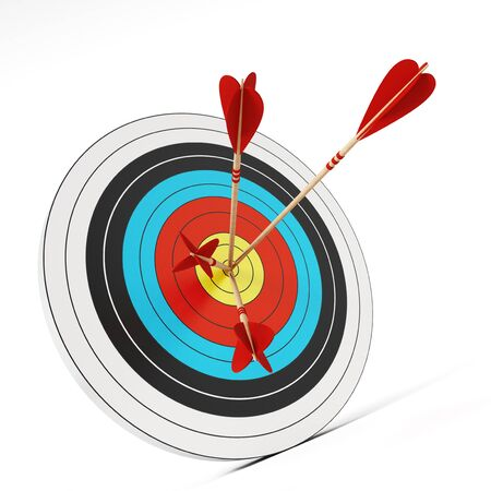 target: Three arrows at the center of the target.
