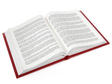Open book with fictitious lorem ipsum text Banque d'images