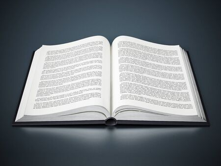 open book: Open book with fictitious lorem ipsum text Stock Photo