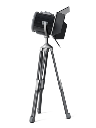 lamp stand: Studio Photography Video Light isolated on white background